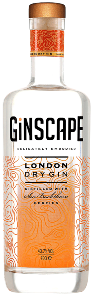 Ginscape London Dry Gin - 43,7 % alkohol, 70 cl.