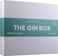 THE GIN BOX med 10 x 5 cl. Premium Gin - Gaveide The perfect Ginbox