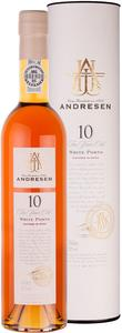Andresen 10 Years Old White Port 50 cl. i gaverør